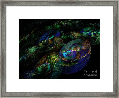 Lizards In The Swamp Framed Print by Andee Design