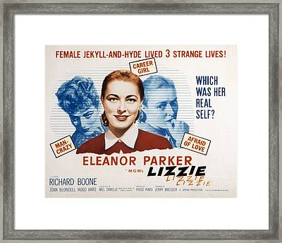 Lizzie, Eleanor Parker, 1957 Framed Print by Everett