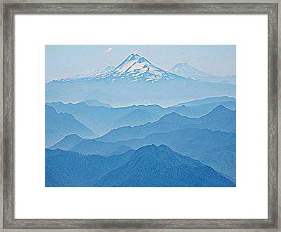 Llaima From Villarica Framed Print