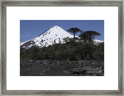 Llaima Volcano, Araucania Region, Chile Framed Print by Martin Rietze