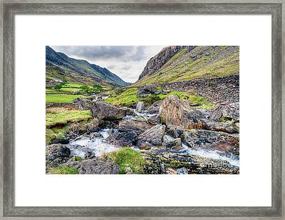 Llanberis Pass Framed Print by Adrian Evans