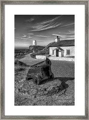 Llanddwyn Cannon V2 Framed Print by Adrian Evans