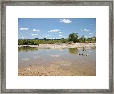 Llano River 'the Slab' Framed Print by Elizabeth Sullivan