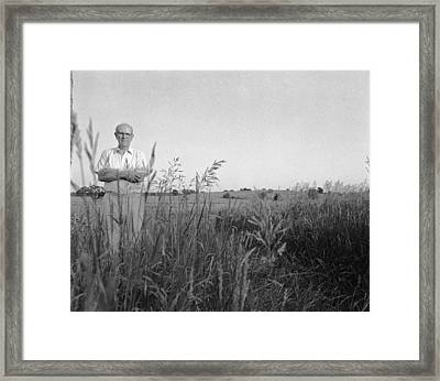 Lloyd Owens On His Farm Framed Print by Jan W Faul