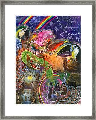 Llullu Machaco  Framed Print by Pablo Amaringo