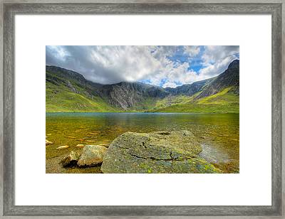 Llyn Idwal Framed Print by Adrian Evans