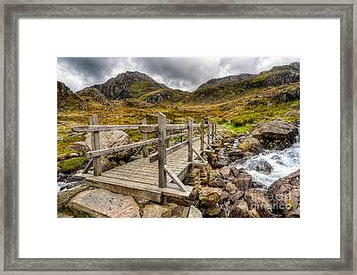 Llyn Idwal Bridge Framed Print by Adrian Evans