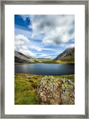 Llyn Idwal Lake Framed Print by Adrian Evans