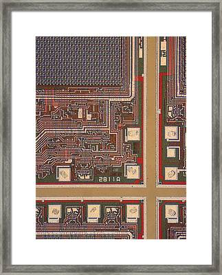 Lm Of A Wafer Of Integrated Circuits Framed Print by David Parker