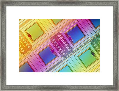 Lm Of Micromechanical Accelerometers Framed Print by Volker Steger