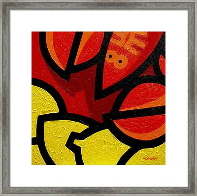 Lobster And Lemons  Framed Print