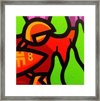 Lobster And Pears Framed Print