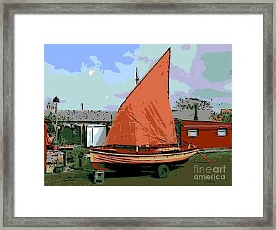 Lobster Boat Framed Print by George Pedro