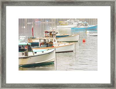 Lobster Boats In Bass Harbor Mount Desert Island Maine Photo  Framed Print
