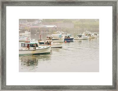 Lobster Boats Mount Desert Island Maine  Framed Print