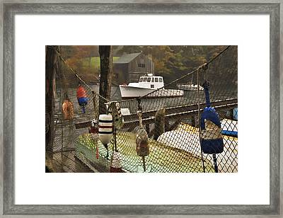 Lobster Buoys At New Harbor - D000349a Framed Print by Daniel Dempster