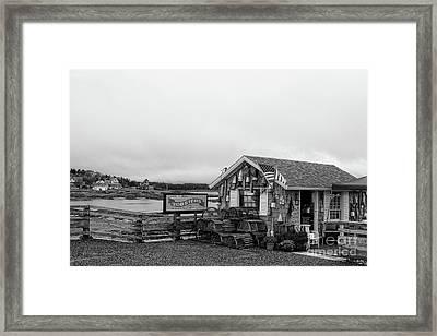 Lobster House Bw Framed Print