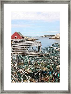 Lobster Pots Framed Print by Kristin Elmquist