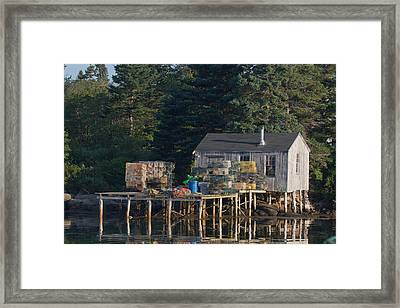 Lobster Shack Prospect Harbor Framed Print