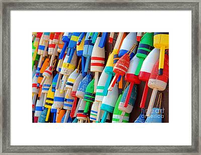 Lobster Trap Buoys Framed Print by Olivier Le Queinec