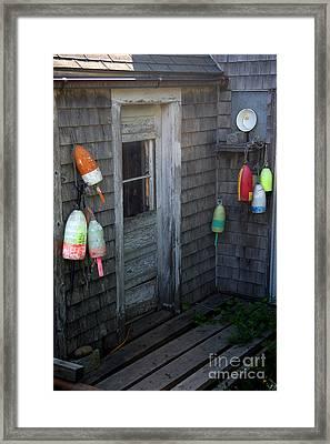 Lobsterman's House Framed Print by Brenda Giasson