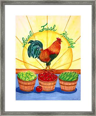 Local Fresh Healthy Framed Print