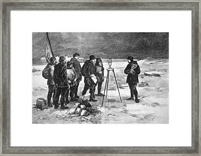 Locating The Magnetic North Pole Framed Print by Cci Archives