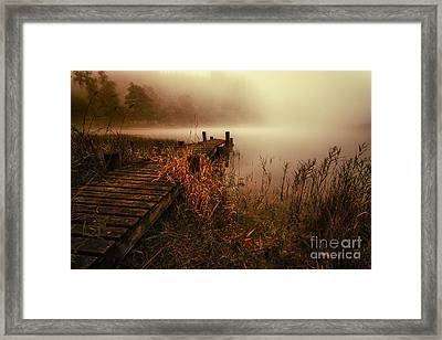 Loch Ard Early Morning Mist Framed Print by John Farnan