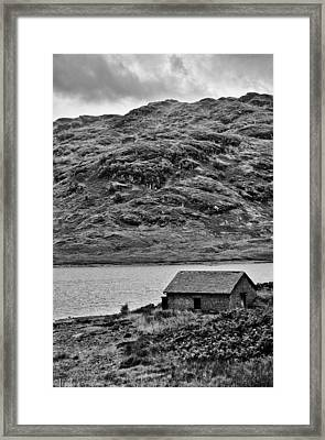 Loch Arklet Boathouse Framed Print by Chris Thaxter