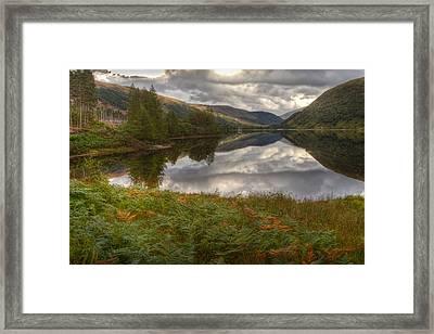 Loch Dughaill Scotland Uk Framed Print by Gabor Pozsgai