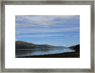 Framed Print featuring the photograph Loch Linnhe by David Grant