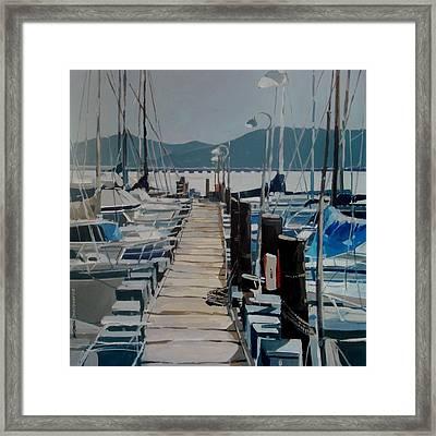 Loch Lomond Marina Framed Print