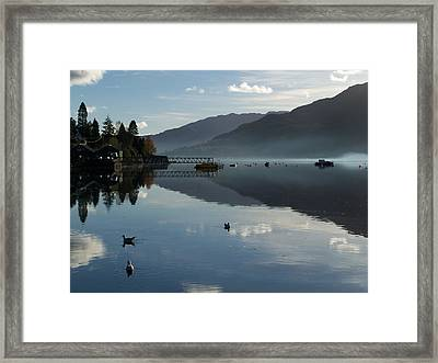 Framed Print featuring the photograph Lochgoilhead by Lynn Bolt