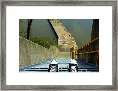 Lock E5 Stairway Framed Print