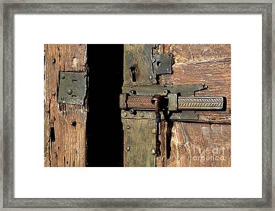 Lock Of Church. France Framed Print by Bernard Jaubert