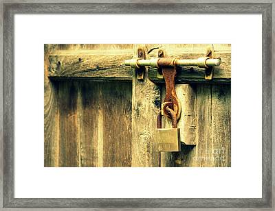 Locked And Abandoned - 2 Framed Print