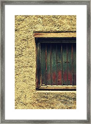 Locked And Abandoned - 3 Framed Print