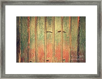 Locked And Abandoned - 4 Framed Print