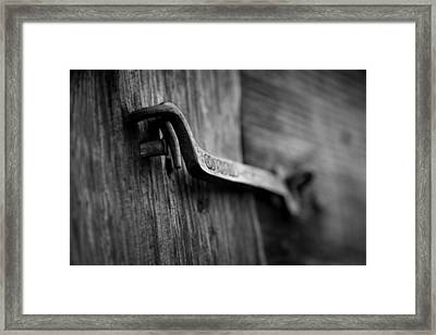 Iron Hinge #2 Framed Print by Vintage Pix
