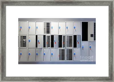 Locker Room Framed Print