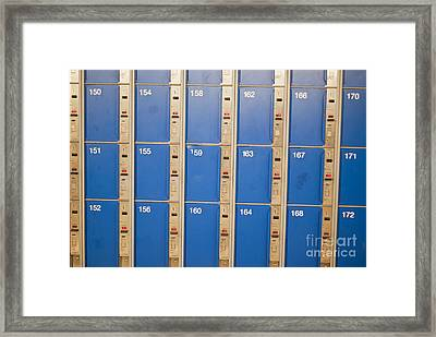 Lockers Framed Print by Boris Suntsov