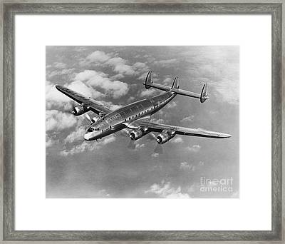 Lockheed Constellation Framed Print by Photo Researchers
