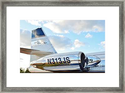 Lockheed Jet Star Framed Print