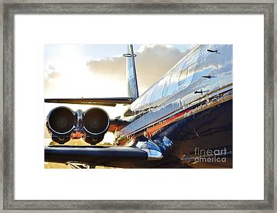 Lockheed Jet Star Side View Framed Print