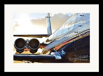 Jetliner Chrome Framed Prints