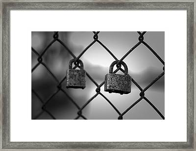 Locks Big And Small Framed Print by Eric Gendron