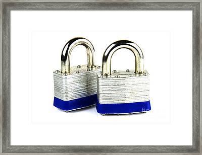 Locks Framed Print by Blink Images
