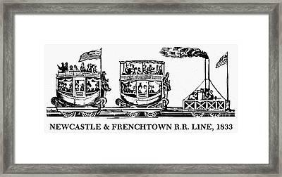 Locomotive, 1833 Framed Print