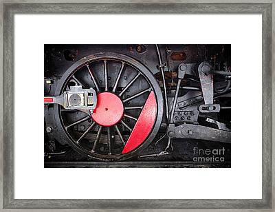 Locomotive Wheel Framed Print by Carlos Caetano