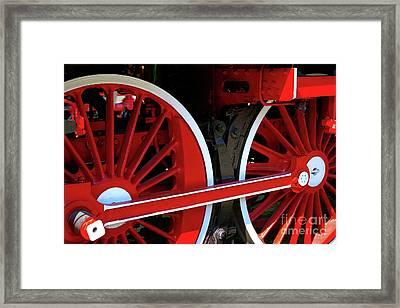 Locomotive Wheels Framed Print